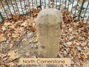 North cornerstone marking the District of Columbia